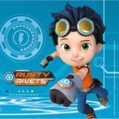 Blauwe Nickelodeon 16 Napkins Rusty Rivets 33cm