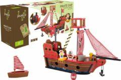 Rode Jouéco piratenschip 7 delig