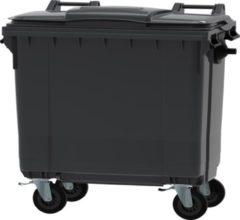 Ese 4 wiel container 660 liter grijs