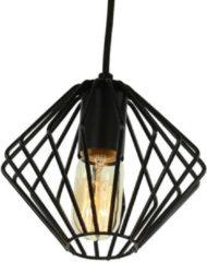 Groenovatie Yardley Retro Draad Design Hanglamp Zwart