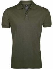 Bruine Polo Shirt Korte Mouw Sols PRIME ELEGANT MEN