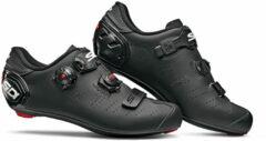 Zwarte Sidi Ergo 5 Mega Matt fietsschoenen (brede pasvorm) - Fietsschoenen