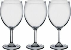 Bormioli 6x Stuks wijnglazen transparant 260 ml - Wijnglas witte of rode wijn op voet