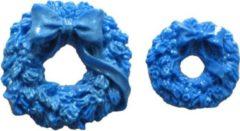 Blauwe First Impression Molds First Impressions Mini Christmas Wreaths - Kleine Kerstkransjes Mal