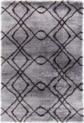 Impression Rugs Pearl Vloerkleed Grijs / Antraciet Hoogpolig - 120x170 CM