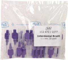 TePe Lila 25 stuks - Interdentale ragers origineel -1.1 mm - Ragers - Voordeelverpakking