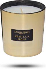 Gouden ATELIER REBUL Vanilla Noir Geurkaars - 210 g - Zoet
