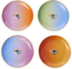Paarse L'OBJET - Lito-Eye set of 4 Cocktail Plates - 4 Colours