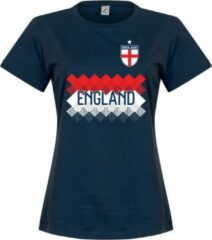 Marineblauwe Retake Engeland Dames Team T-Shirt - Navy - XL