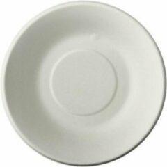 Pure - Disposable Tableware 12x Witte suikerriet bakjes/schaaltjes 19 cm biologisch afbreekbaar - Ronde wegwerp bakjes/schaaltjes - Pure tableware - Duurzame materialen - Milieuvriendelijke wegwerpservies bakken / schalen - Ecologisch verantwoord