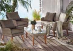 Gartenmöbel-Set, Wello miaVILLA weiß gewischt