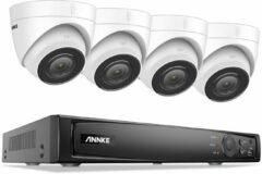 Witte Eve Audio ANNKE ACS-8 N48-BM - Beveiligingscamera set - PoE - 8MP - Met audio