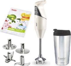 Creme witte Bamix staafmixer M-180 To Go creme
