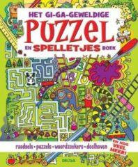 Merkloos / Sans marque Het gi-ga-geweldige puzzel- en spelletjesboek