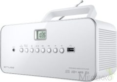 Witte Muse Electronics Muse M-28 RDW - Draagbare radio/CD/MP3 speler