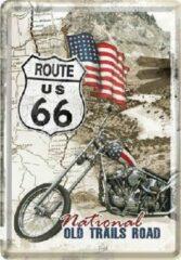 Nostalgic Art Merchandising Route 66 Old Trails Road Metalen Postcard 10 x 14 cm.