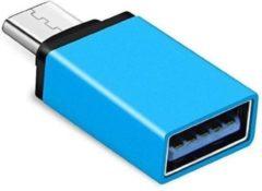 Merkloos / Sans marque OTG USB Type C 3.1 Data connector USB 3.0 vrouwelijk Metaal voor Telefoons \ Smartphones \ Tablets - blauw