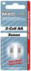 Mag-Lite Maglite Reservelamp mini MagLite AAA & AA 2 stuks, geschikt voor Mini MAG AA / AAA