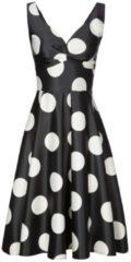Elegantes Kleid PIA mit stilvollem Punkte-Dessin Nicowa black Creme