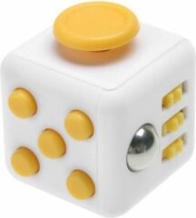 Tokomundo Fidget Cube tegen Stress - Fidget Toys - Stressbal - Speelgoed Jongens - Speelgoed Meisjes - Geel