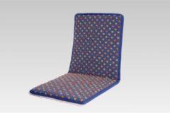 Stuhlkissen Sitzauflage Sitzflächenschoner Wolle Noppen 80 x 37 cm Linke Licardo blau