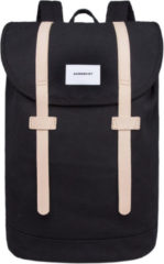 Beige Sandqvist Stig Large Backpack Black/Natural SQA1401 zwart, duurzaam