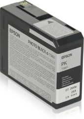Zwarte Epson T5801 - Fotocartridge / Zwart