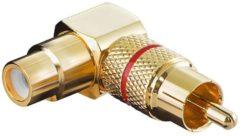 Rode Tulp haakse audio adapter - rood / verguld (metaal)