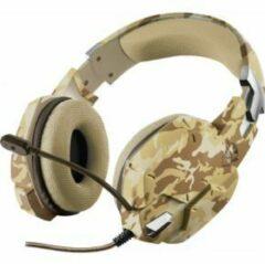 Bruine Trust GXT 322 Carus - Gaming Headset - Geschikt voor PS4, PS5 en PC / Desert Camouflage