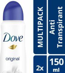 Dove Original Women Deodorant - 2 x 150 ml - Voordeelverpakking