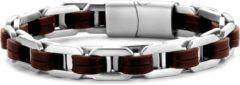 CO88 Collection Sense 8CB 90451 Stalen Bangle met Klavertjes - One-size (60x50x6 mm) - Roségoudkleurig