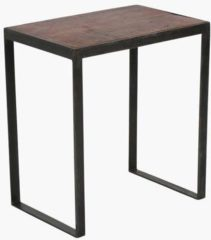 Bruine Raw Materials Factory Sidetable- 45x30x50 cm - Plantenstandaard - Gerecycled hout