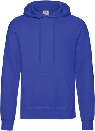 Afbeelding van Fruit of the Loom capuchon sweater kobaltblauw voor volwassenen - Classic Hooded Sweat - Hoodie - Heren kleding M (EU 50)