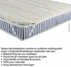 Creme witte Terschellinger Wollen onderdeken |100% IWS Zuiver Scheer wollen topper |Puur Natuur topdek |80x200cm 1 persoons