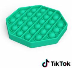 Merkloos / Sans marque Pop it Fidget Toy- Bekend van TikTok - Hexagon - Groen