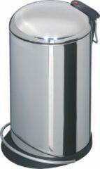Zilveren Hailo Pedaalemmer TopDesign maat M 13 L roestvrij staal 0514-240