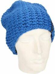 Myrtle Beach Basic beanie muts kobalt blauw voor dames