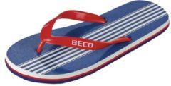 Beco Teenslippers Heren Blauw/rood Maat 43