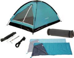 Redcliffs Kampeerset Tent (120X200X100 Cm) - Blauw - 2 Persoons