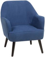Beliani Fauteuil stof marineblauw LOKEN