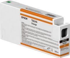 Oranje Epson Singlepack Orange T824A00 UltraChrome HDX 350ml