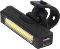 Zwarte Esperanza Elnath | Fietsverlichting Koplamp | Cob LED Accu 500mAH = 12h Licht | 100 lumen | USB oplaadbaar