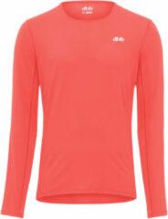 Koraalrode Dhb Aeron hardloopshirt (lange mouwen) - Hardloopshirts (lange mouwen)