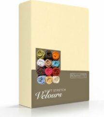 Fluweel Zachte Hoeslaken Velours Eenpersoons Geel   80/90/100x200/210/220   Comfortabel En Luxe   Rondom Elastiek