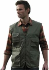 Result Outdoor/werk bodywarmer groen voor heren - Outdoorkleding/werkkleding - Mouwloze vissers/tuinier vesten M (38/50)