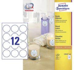 Avery-Zweckform L3416-100 L3416-100 ( Ã 60 mm ),Wit, 1200 stuk(s), Permanent
