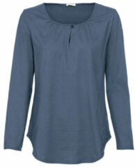 Enna Shirt met lange mouw en druppelhals, nachtblauw 40/42