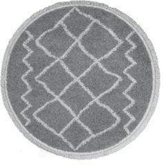Grijze Home67 Vloerkleed Marrakesh - Rond ø160 cm - Grey - Shaggy Berber - Trend