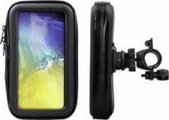 Zwarte Shop4 telefoonhouder fiets - Samsung Galaxy S10e - Waterdicht