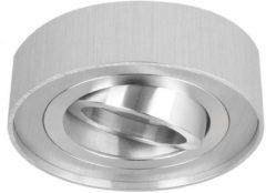 Led-line LED line Inbouwspot Hoog - Rond - Kantelbaar - Geborsteld Aluminium - GU10 Fitting - Ø 85 mm
